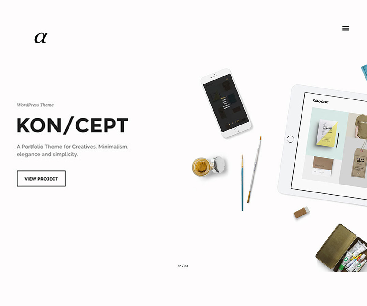 Alpha Creative Personal WordPress Theme