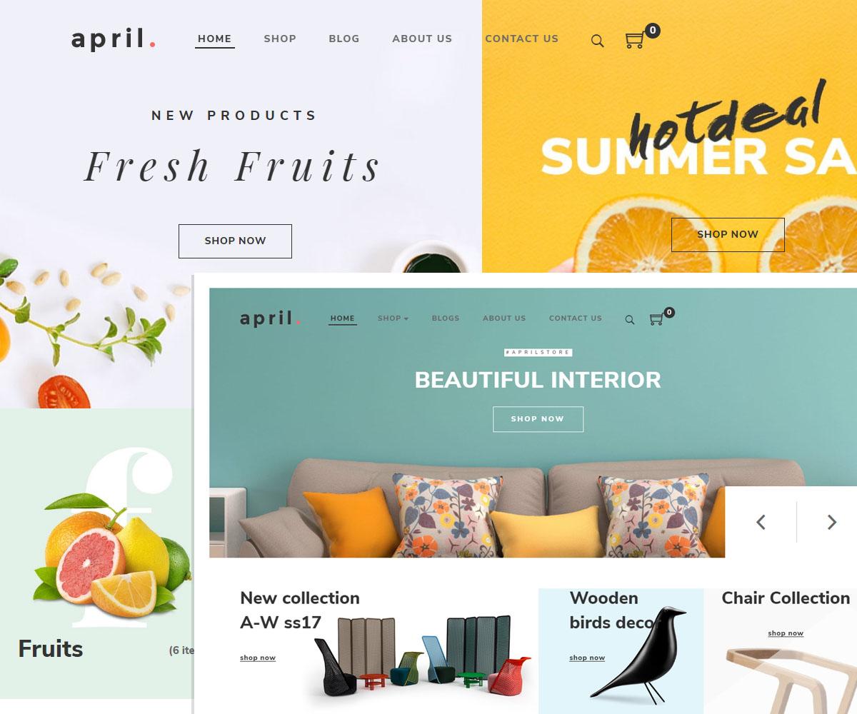 April wordpress theme