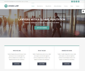 Avada Lawyer WordPress Theme