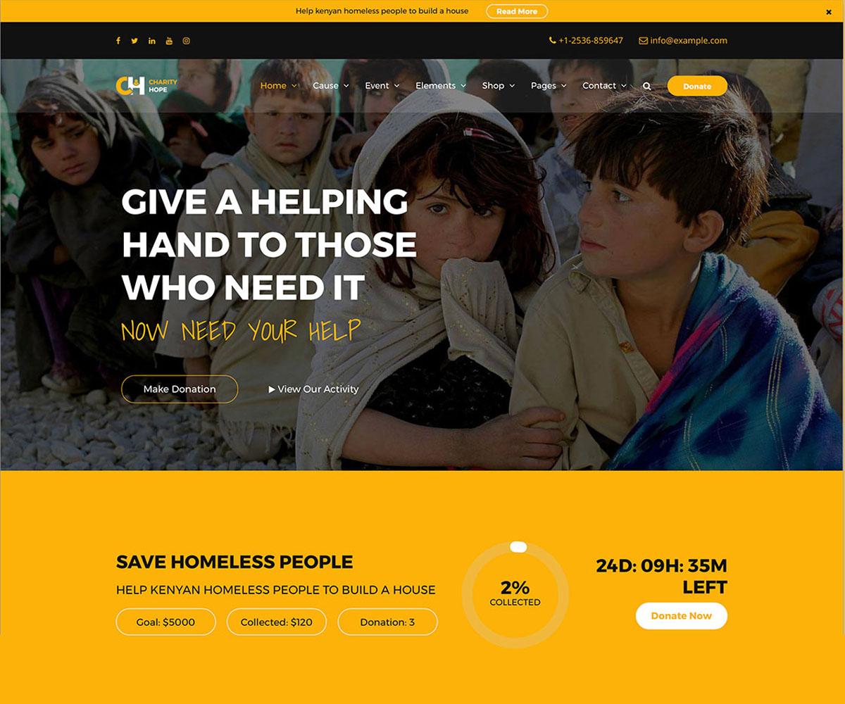 non-profit theme