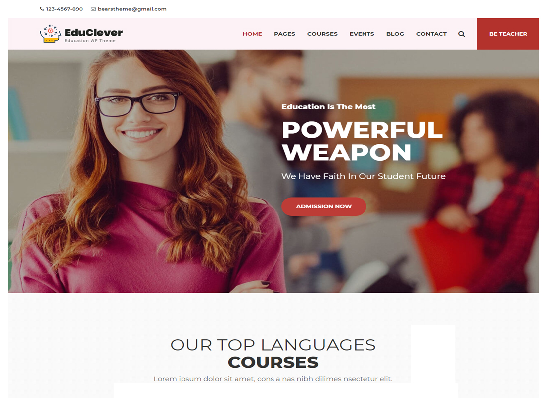 Educlever WP Theme