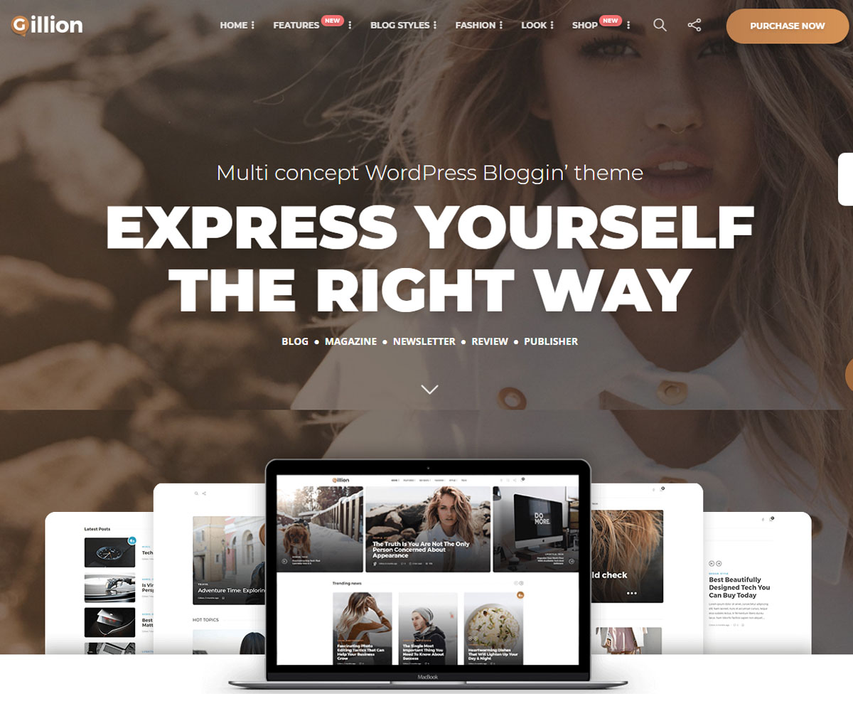 April wordpress theme