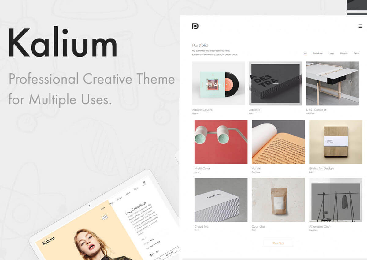 Kalium multipurpose theme