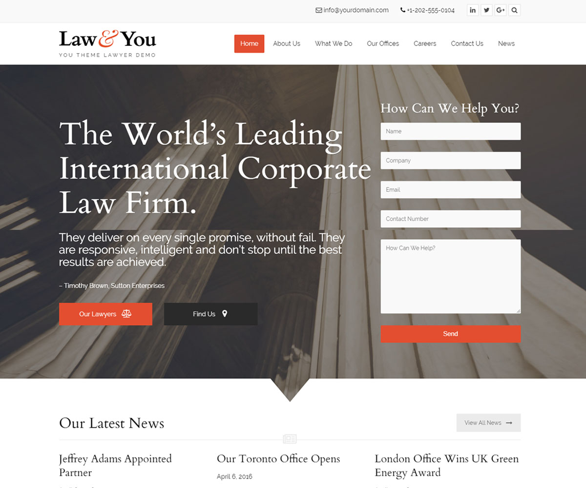 Best Lawyer WordPress Themes For Private Attorneys and Law Firms 2018