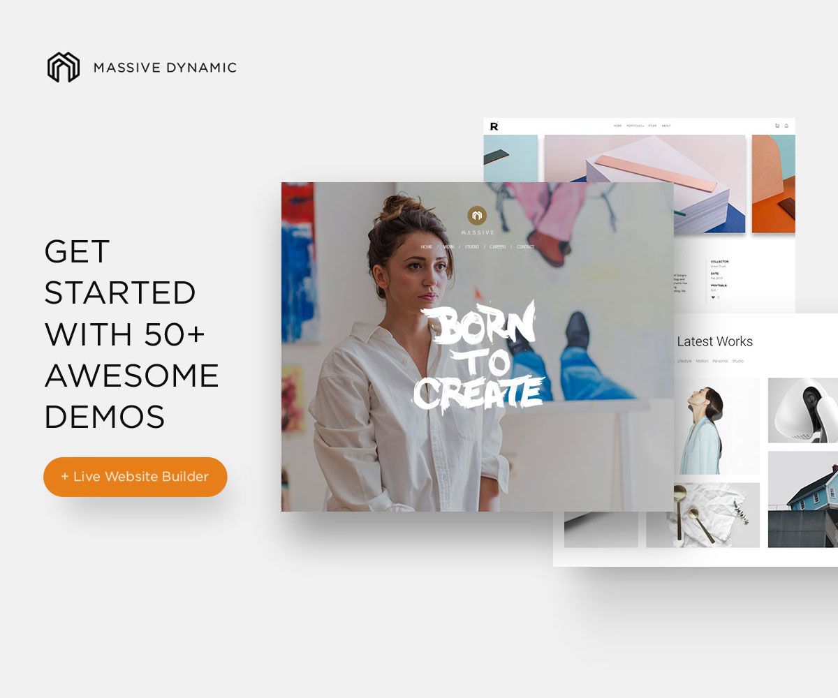 Massive Dynamic Portfolio theme