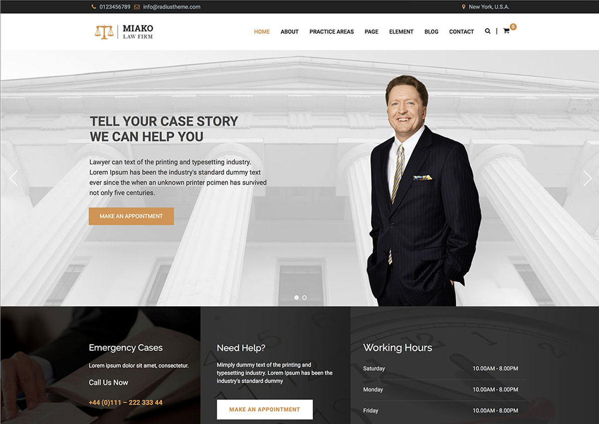 Lawyer theme