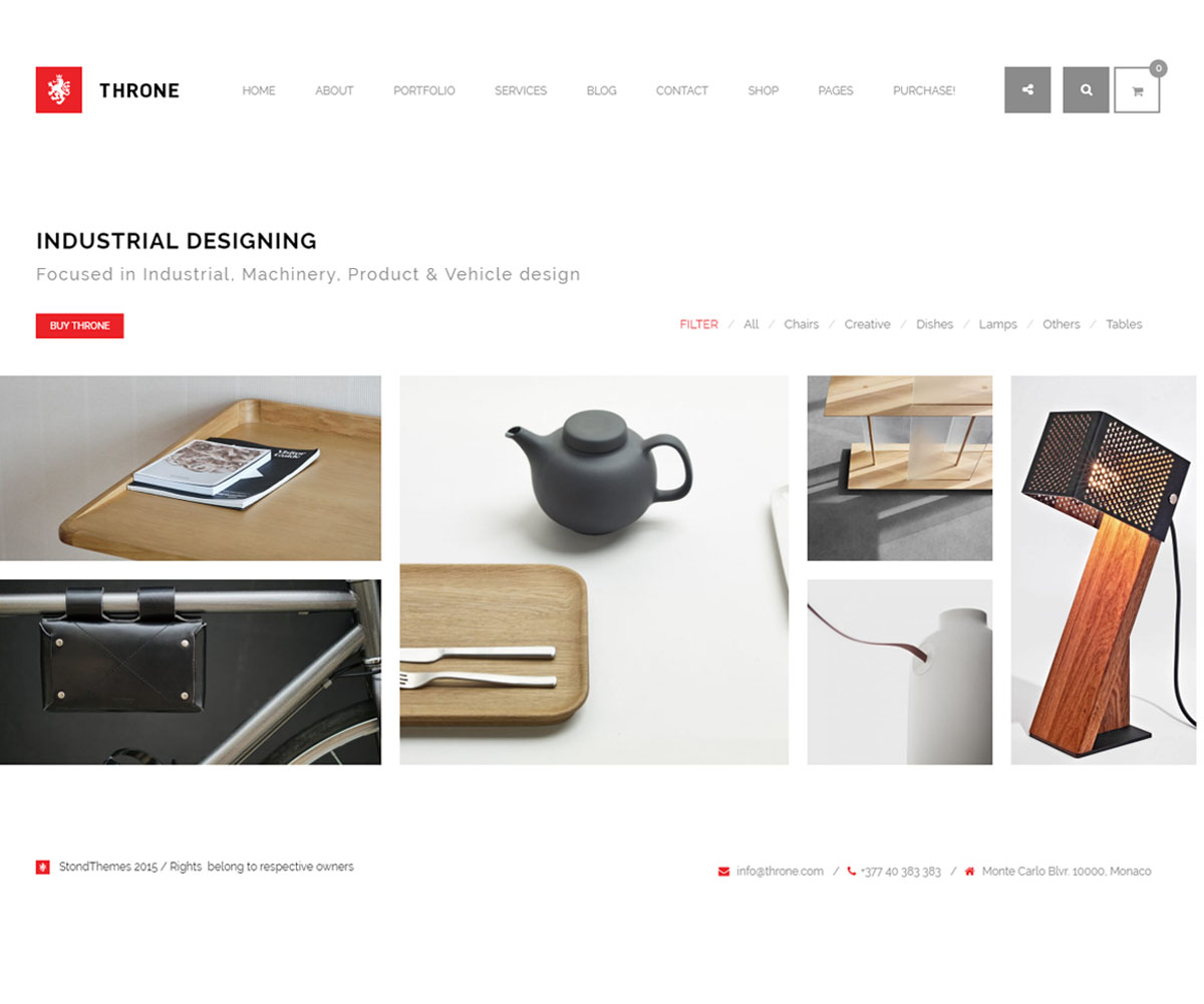 Throne WordPress Theme for Personal Websites