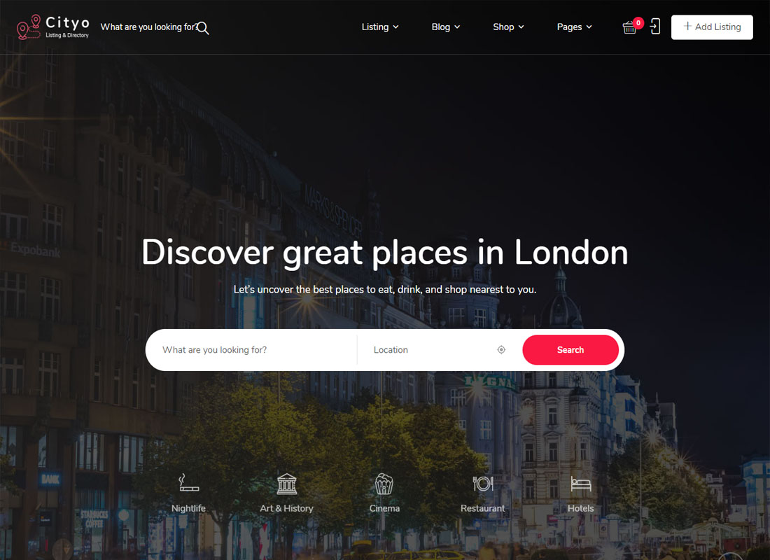 Cityo WordPress Theme