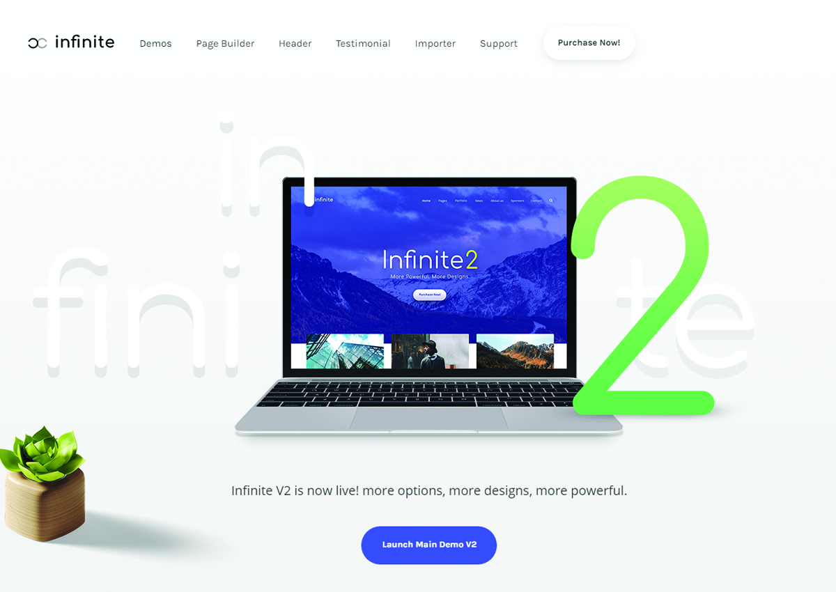 infinite WordPress theme
