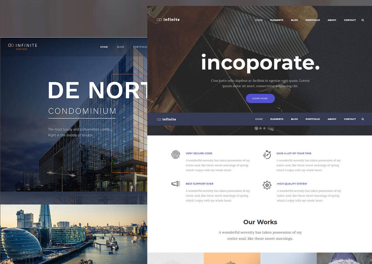 Infinite multipurpose theme
