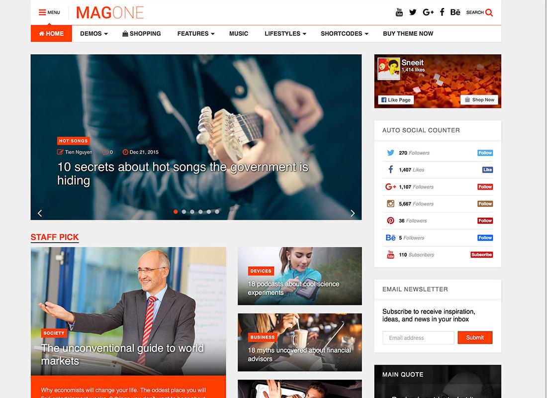 MagOne News Theme