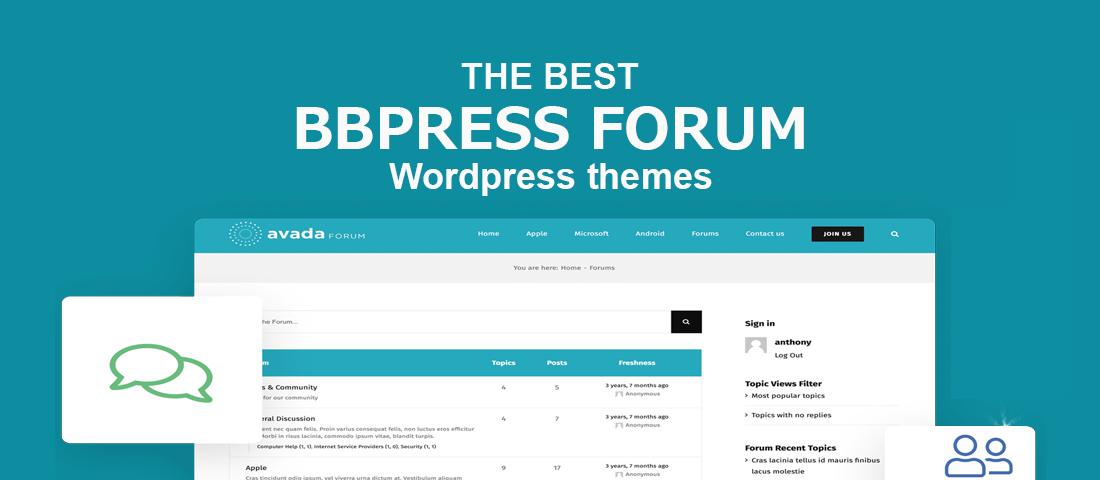 bbpress forum theme