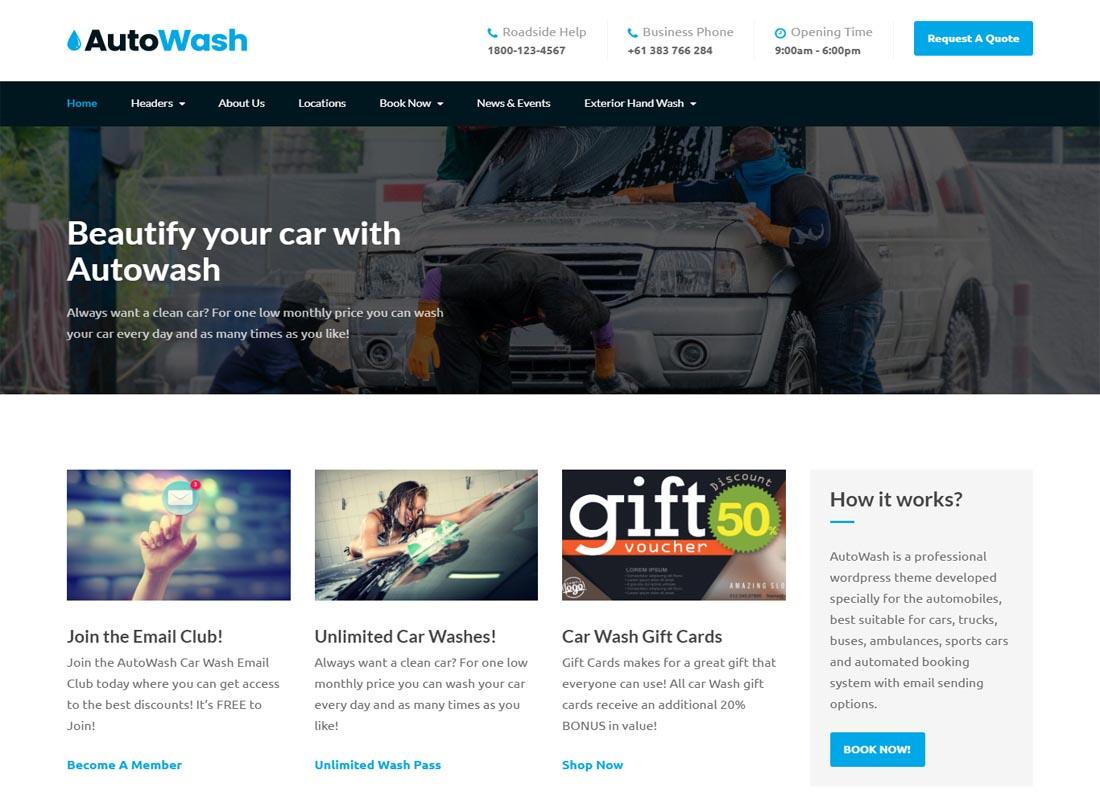 AutoWash Theme
