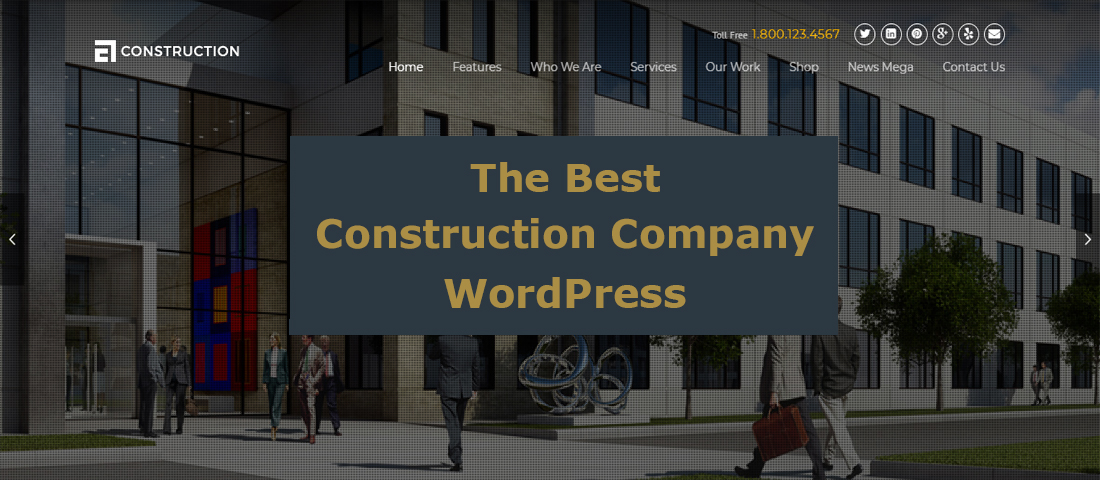 WordPress Construction Company Theme