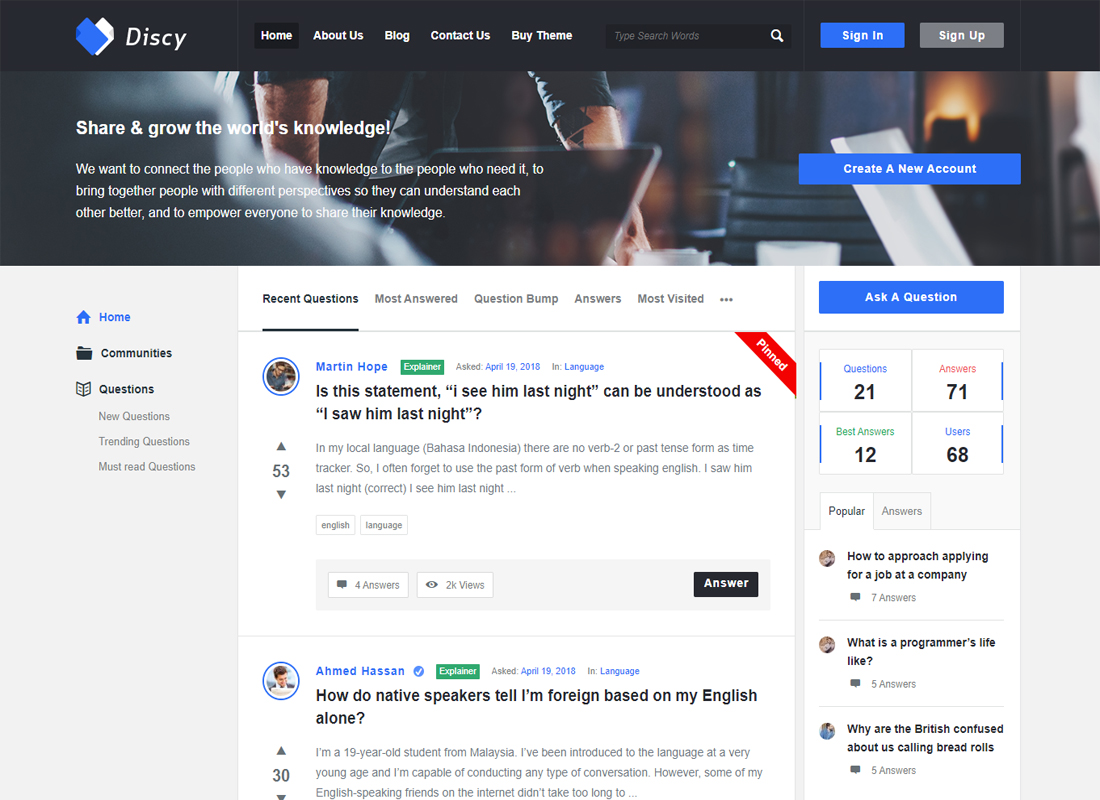 Discy Knowledge Base WordPress Theme