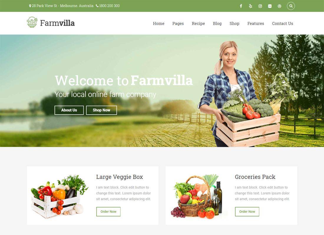 FarmVilla WP Theme