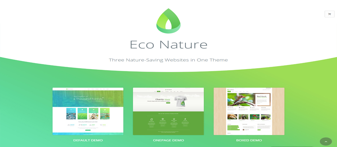 WordPress Eco Green Nature Theme