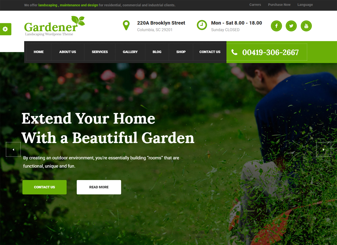 Gardening WP Green Theme