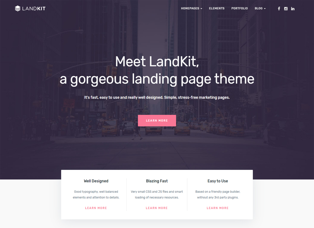 Landkit WordPress Theme