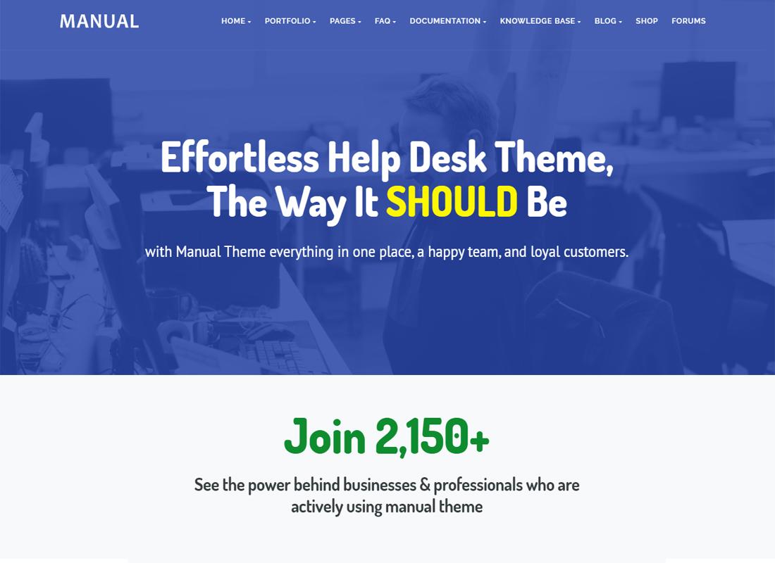Manual WordPress Theme