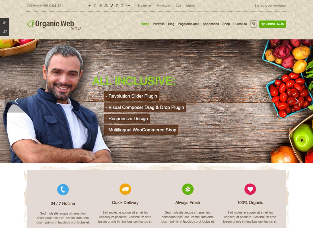 Organic Web Store