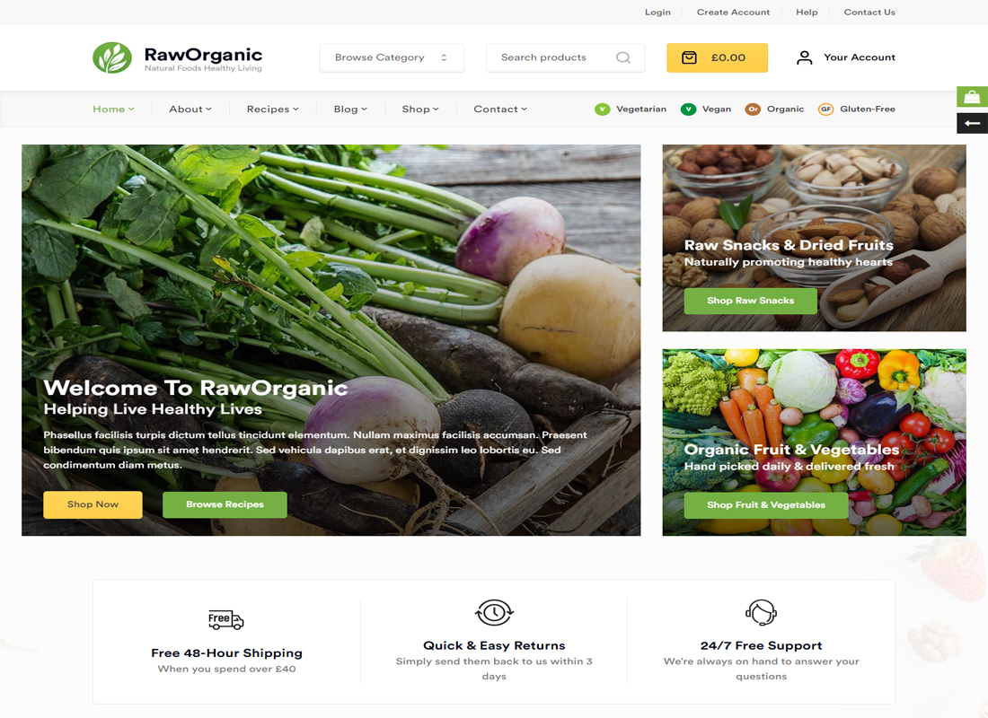 RawOrganic WordPress Theme
