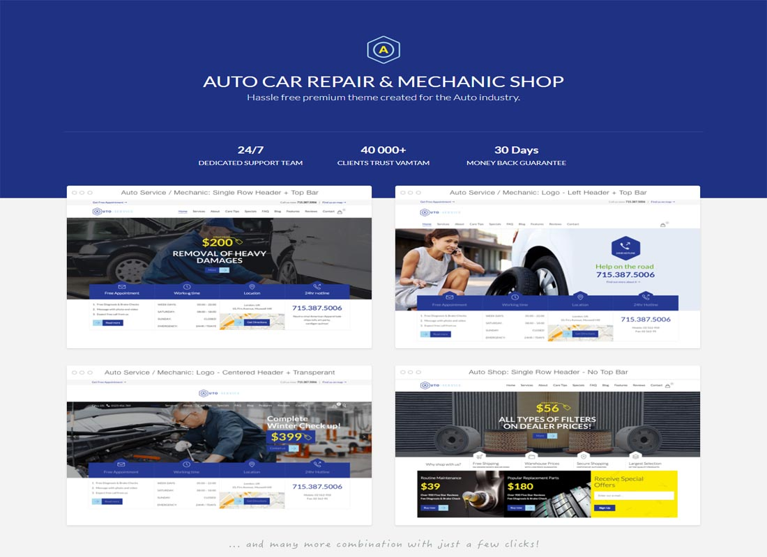 Auto Repair & Car Mechanic Theme