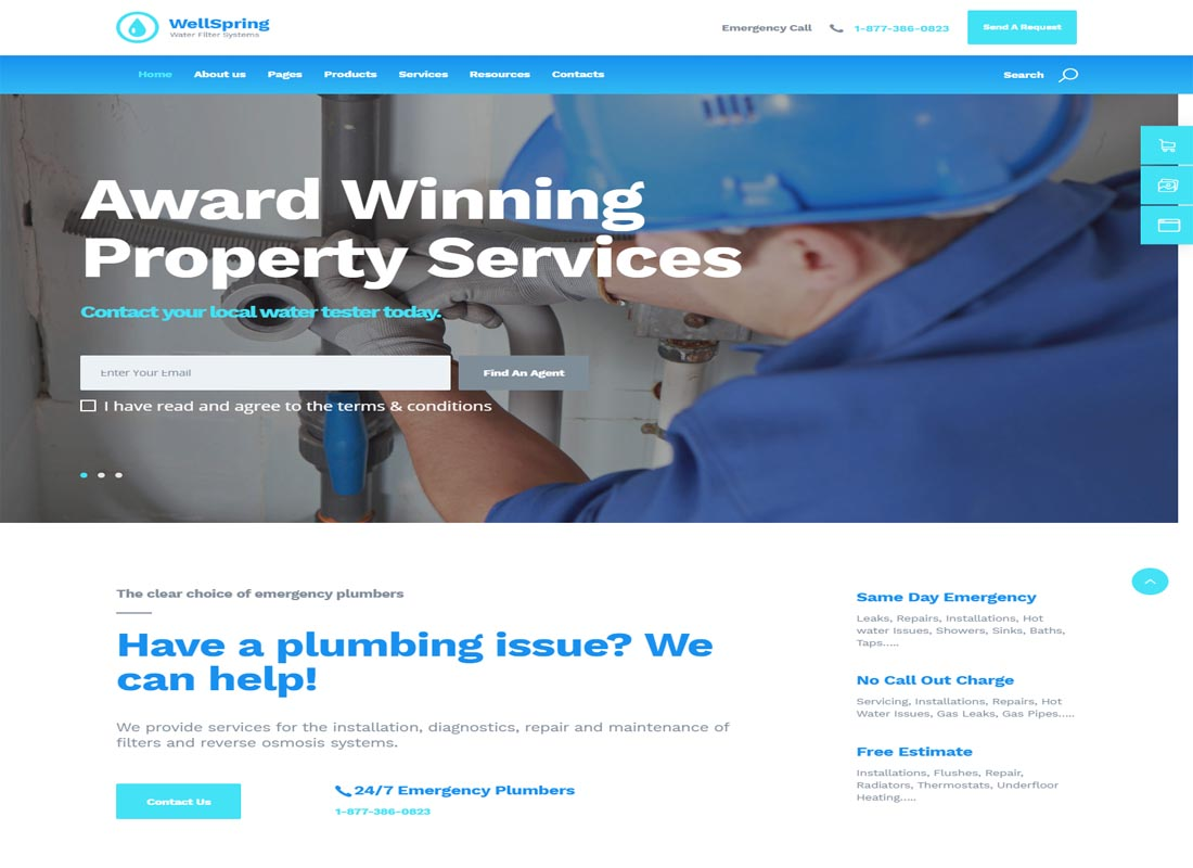 Well-Spring WP Plumbers Theme