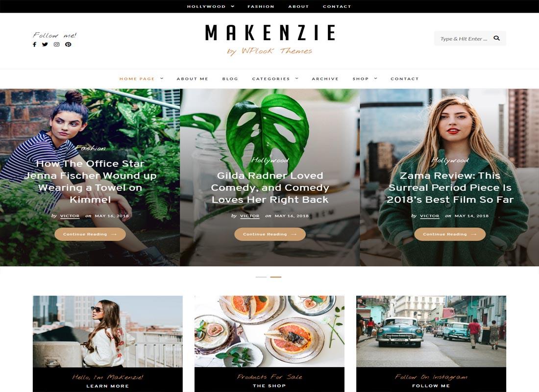 Makenzie WordPress Theme