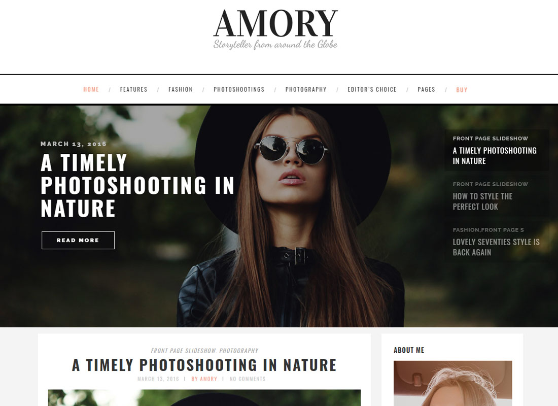 Amory WordPress Theme