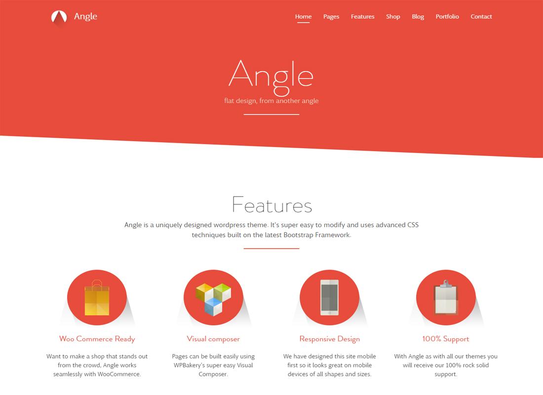 Angle Flat Design WordPress Theme