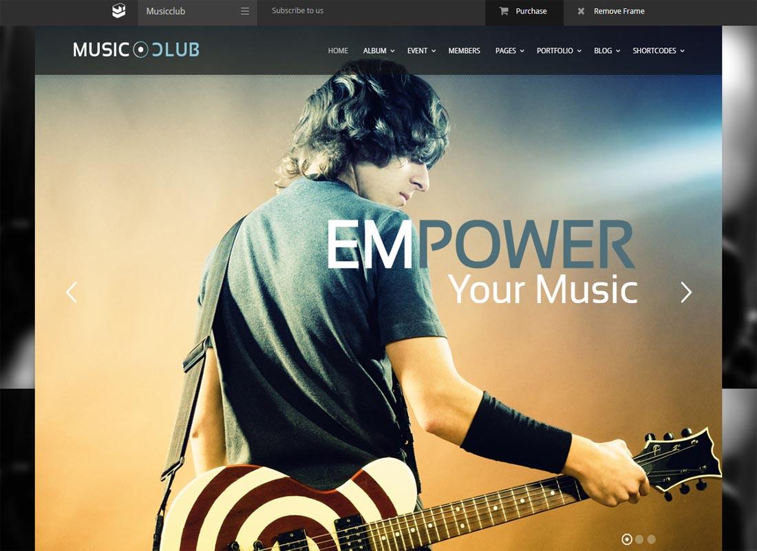 Music Club WP Theme