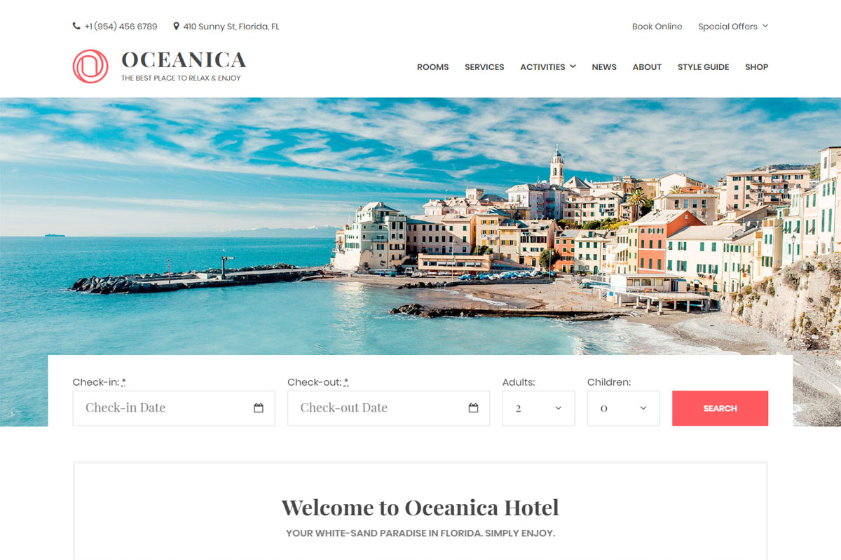 Oceania WordPress Theme