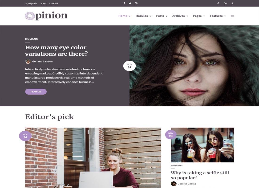 Opinion WordPress Theme