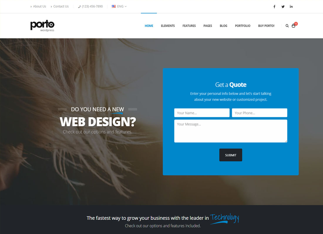 Porto WordPress Coming Soon Theme
