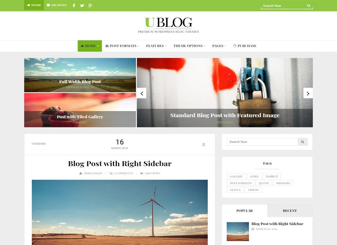 UBlog WordPress Theme