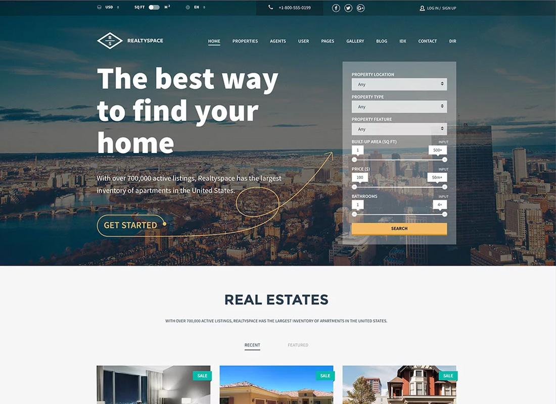 RealitySpace WordPress Theme