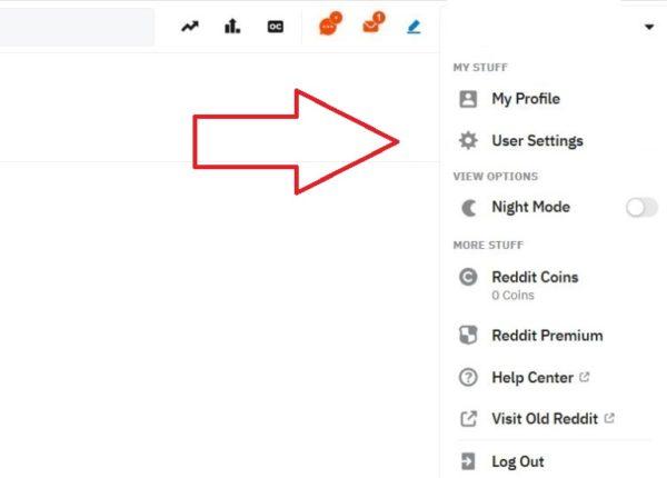 reddit account user settings