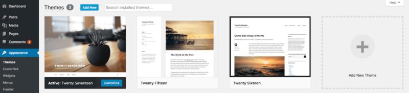 wordpress theme section
